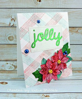 "https://kbstamps.blogspot.com/2018/12/jolly-2.html?m=1  Poppy Stamps, Impress background Stamp, Lawn Fawn Die, Lil Inker ""Jolly"" Die, Simon Says Stamp pearls, colorburst"