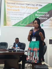 Belinda Archibong presenting Bargaining Matters taxation and public service provision