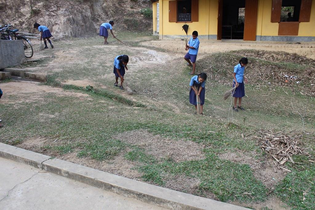 GAP at Karimganj, Assam - Campus Cleaning