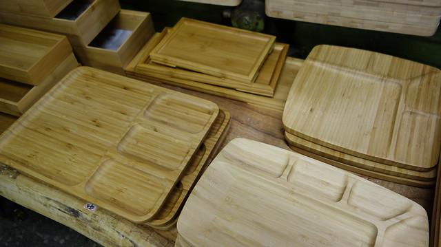大稻埕:覺得竹盤好漂亮喔,擺各種菜色點心都好看