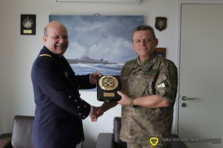 """Official Visit of the Chief of Navy of France to the Naval Base """"Evangelos Florakis""""   by Proelasi"""