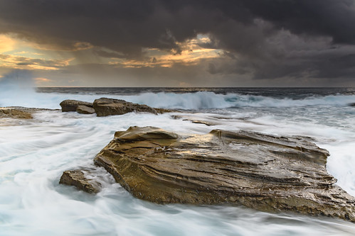 Rock Ledge and Seascape | by Merrillie