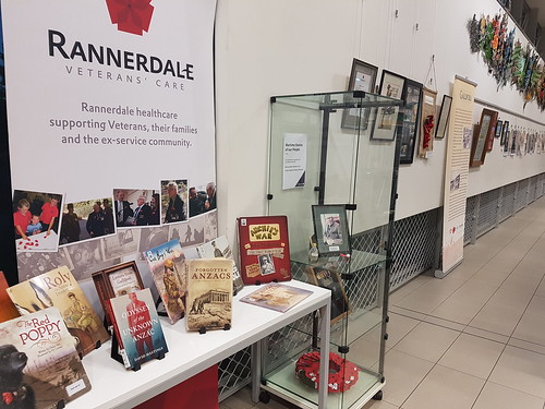 Anzac Day display, Upper Riccarton Library. Wednesday 3 April 2019. Flickr 2019-04-03-URdisplay3