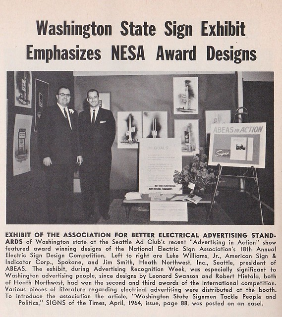 Washington State Sign Exhibit - NESA Awards - 1964