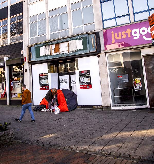 City High Street of Homeless