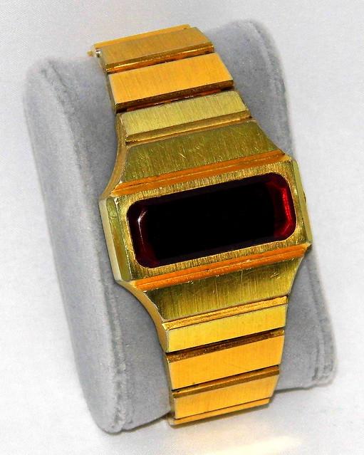Vintage Benrus Men's Electronic Digital Watch, Red LED Display, Circa 1976