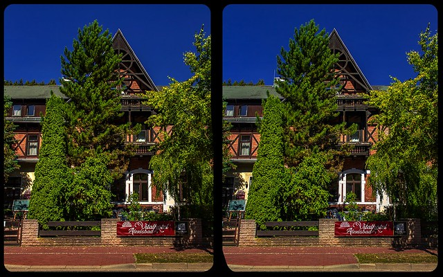 Alexisbad architecture 3-D / CrossView / Stereoscopy