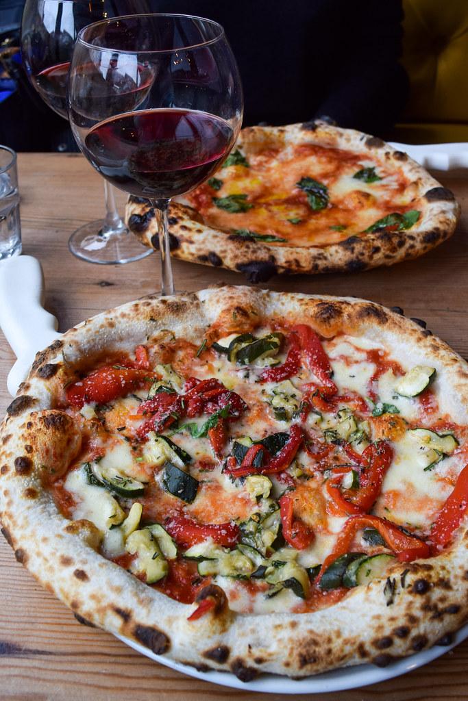 Pepper & Courgette Pizza at Luben's Pizza, Folkestone