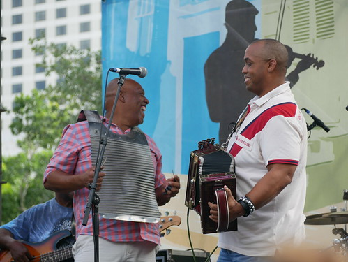 Corey Ledet & His Zydeco Band on Day 1 of French Quarter Fest - 4.11.19. Photo by Louis Crispino.