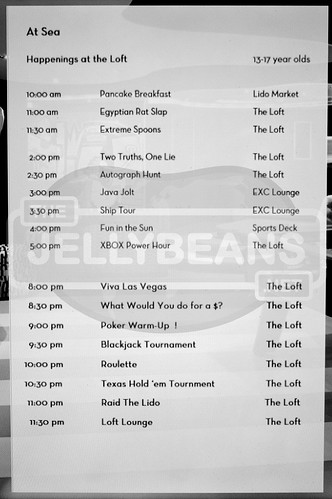 "Holland America Nieuw Amsterdam ""The Loft"" Daily Schedule: 7-Day Eastern Caribbean Apr 1, 2018 