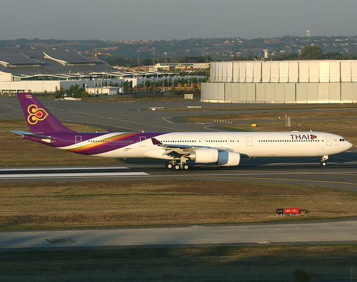 F-WWCM Airbus A340 Thai | by @Eurospot 10.000.000 views