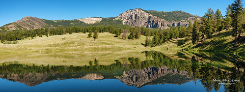 troutlake yellowstonenationalpark wyoming usa nikon marchaegemanphotography landscapes scenic lake outdoor montains mountainrange landscapephotography reflections forest mountain grass sky landscape
