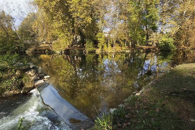 Reflections of the Charente in autumn-3