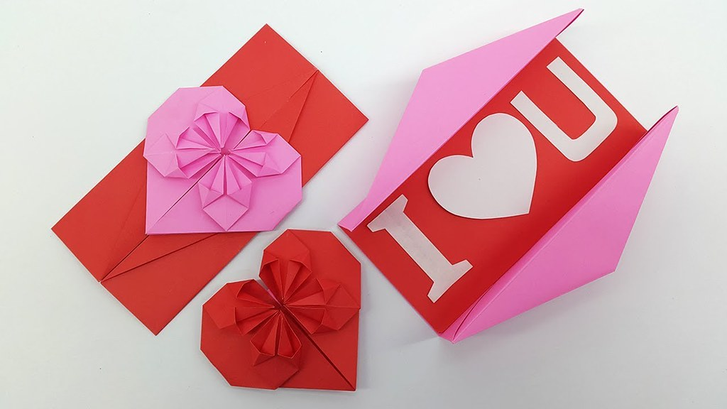 Origami heart box with lid instructions and diagram | 576x1024