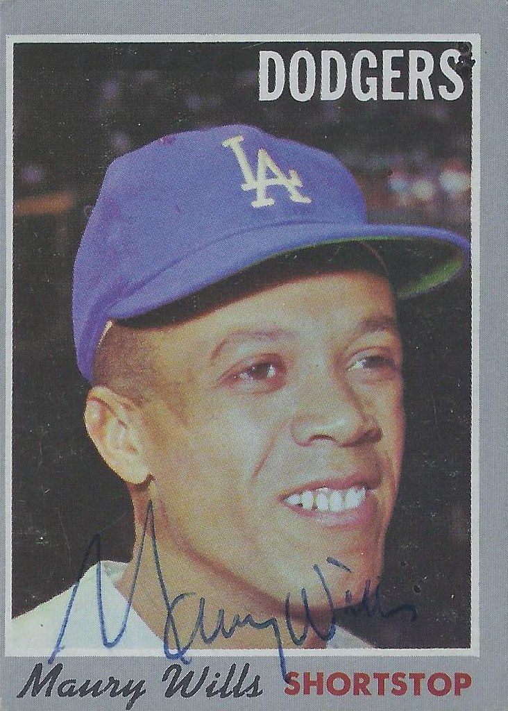 1970 Topps Maury Wills 595 Shortstop Autographed Ba Flickr
