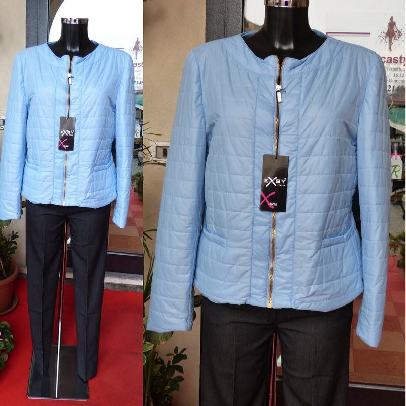 wholesale dealer ea9e2 473b0 Piumino donna azzurro ultra leggero 100 grammi Exsy | Flickr