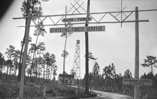 Maco Tower entrance.   by The Forest History Society
