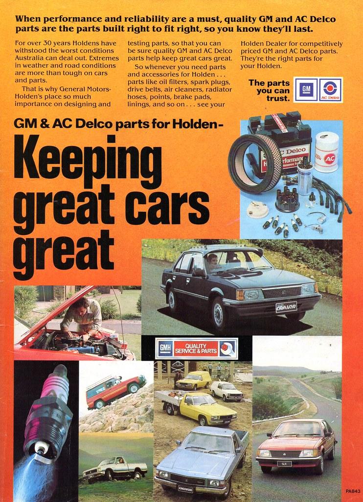 1983 Holden GM AC Delco Quality Service & Parts TE Gemini