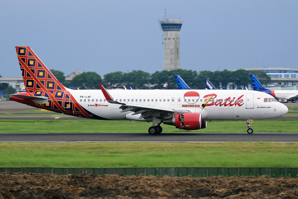 PK-LAF Batilk Air Airbus A320-214(WL) at Jakarta Soekarno-Hatta Airport on 27 February 2018