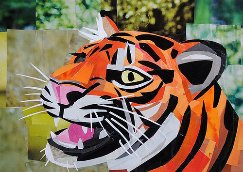 I am Tiger Hear Me Roar | Medium: Collage on paper Size: 5 ... - photo#28