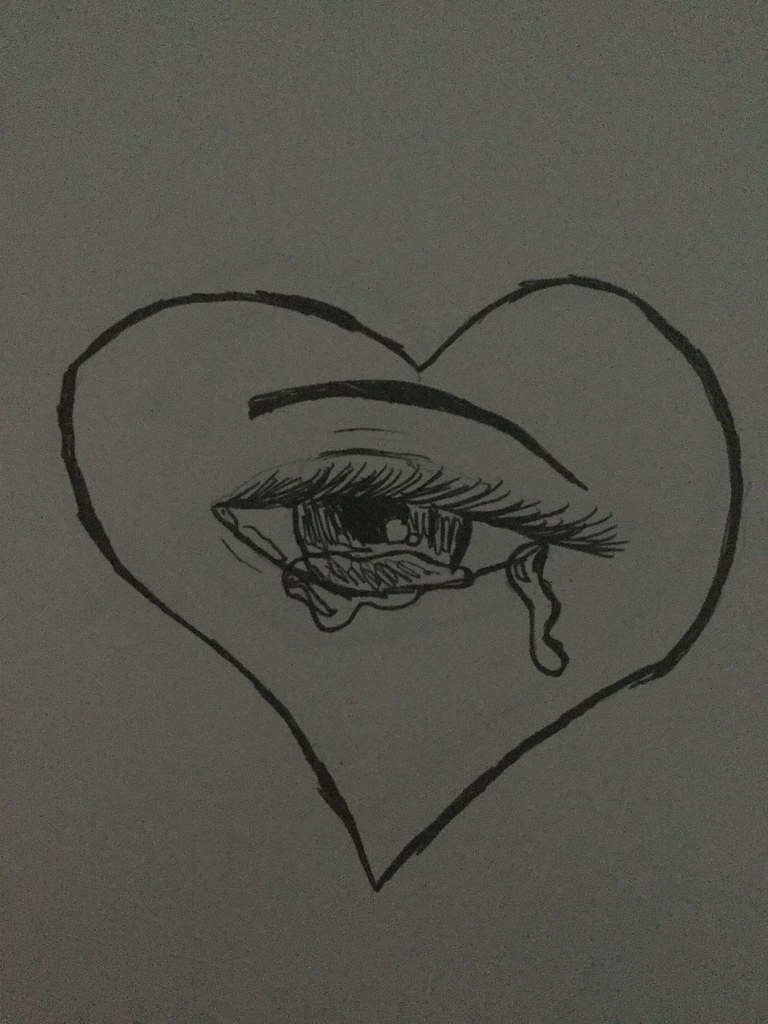 Eye Heart U Brokenhearts Brokerheart Drawing Drawings