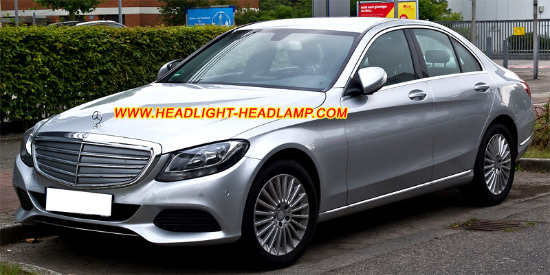 Mercedes-Benz-C-Class-W205-Headlight-Lenses-Cover-Plastic