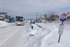 新鶴温泉行きの会津バス 列車との接続が悪いのが難