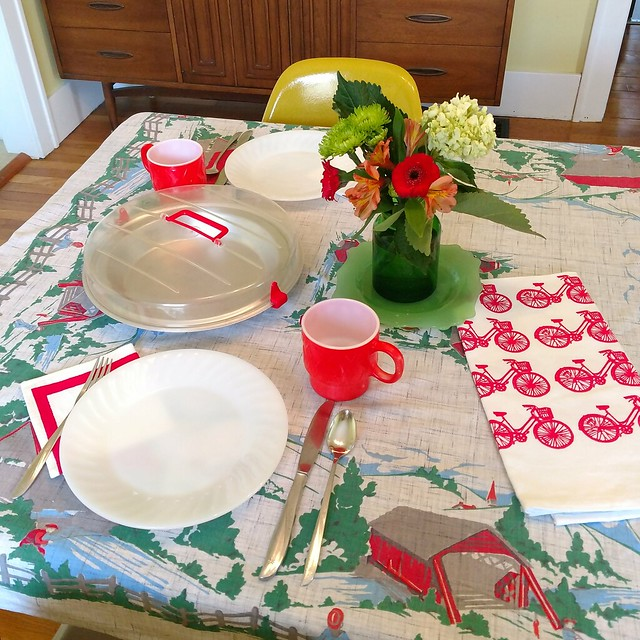 April 2018 table setting