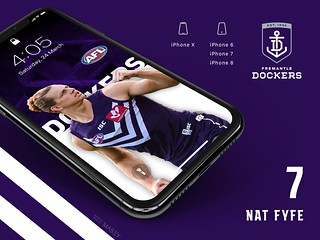 #7 Nat Fyfe (Fremantle Dockers) iPhone Wallpapers | by Rob Masefield (masey.co)