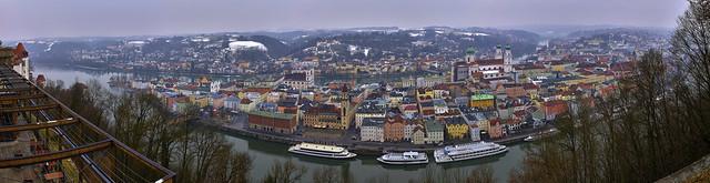 Schneereste über Passau