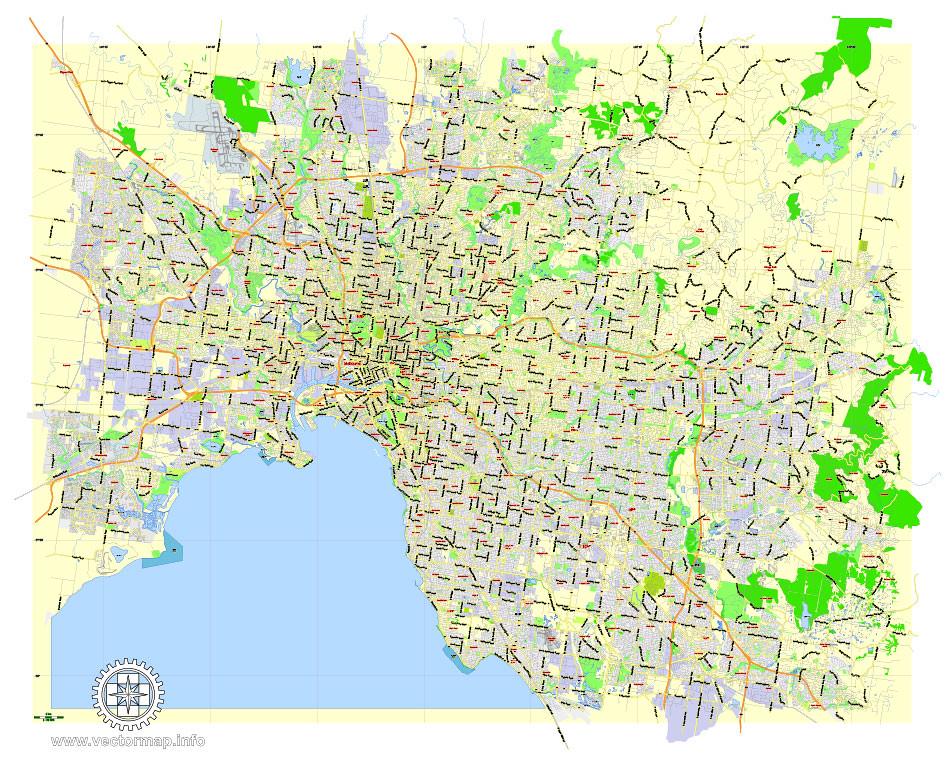Street Map Australia.Melbourne Printable Map Australia Exact Vector Street Ma Flickr