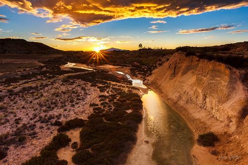 rambla agua murcia españa canon tokina paisaje landscape nubes atardecer nature naturaleza water arroyo salinas