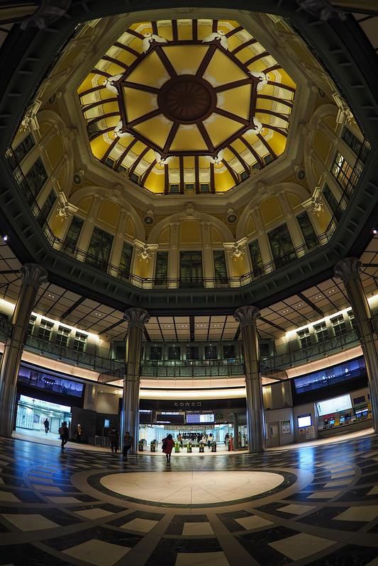 八角老鷹天花板|東京駅