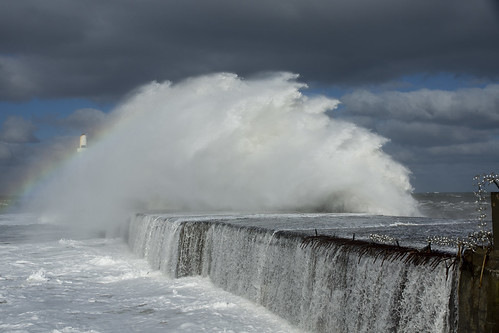 aberdeen scotland storm water sea ocean splash harbour wall waves abigfave