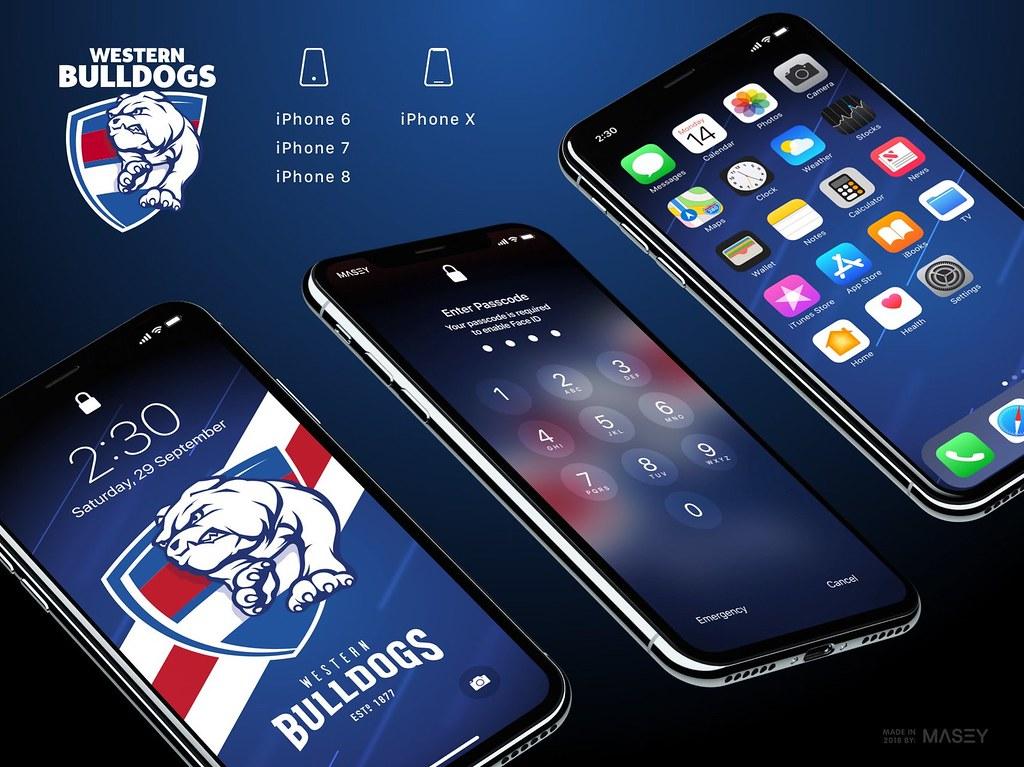 Western Bulldogs Iphone Wallpapers Iphone X Lock Screen