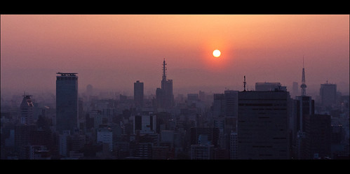 japan sunrise nagoya canon 50mm counterlight