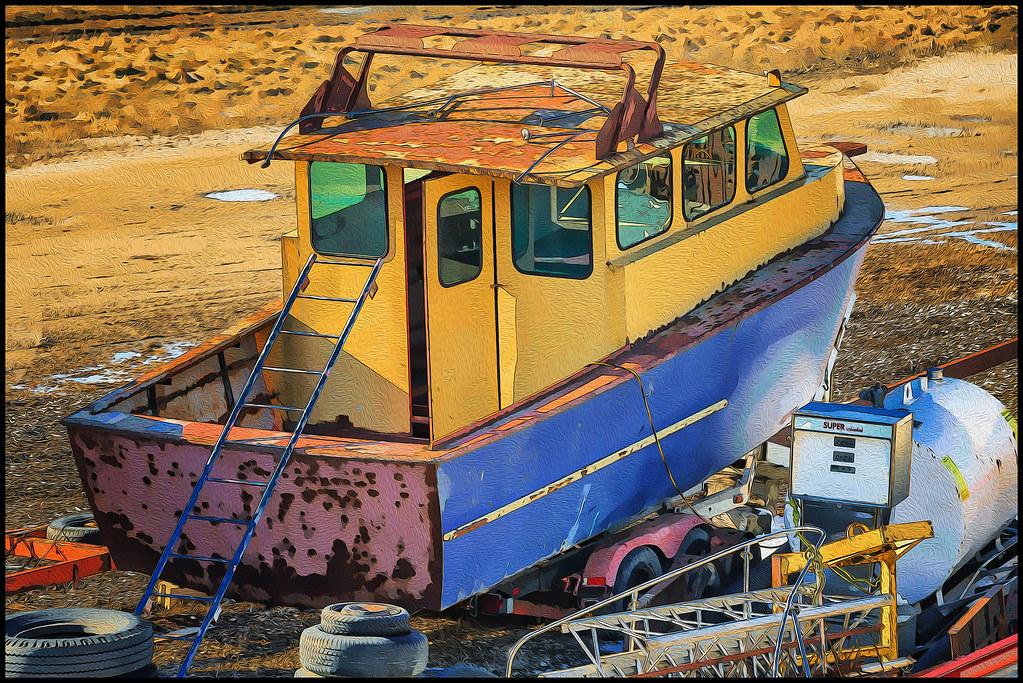 Port Burwell Junkyard Boat (Ontario, Canada)