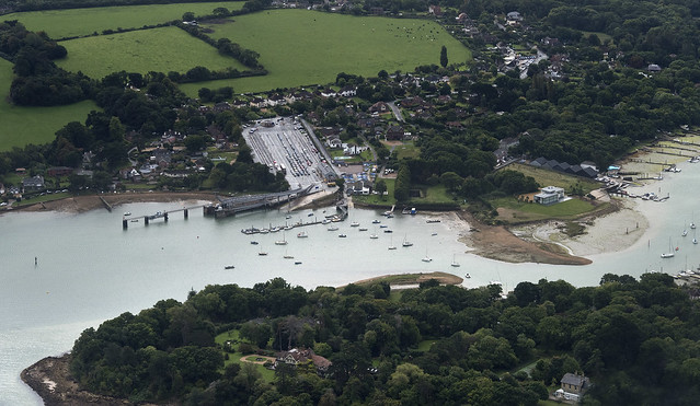 Fishbourne Terminal - Isle of Wight aerial