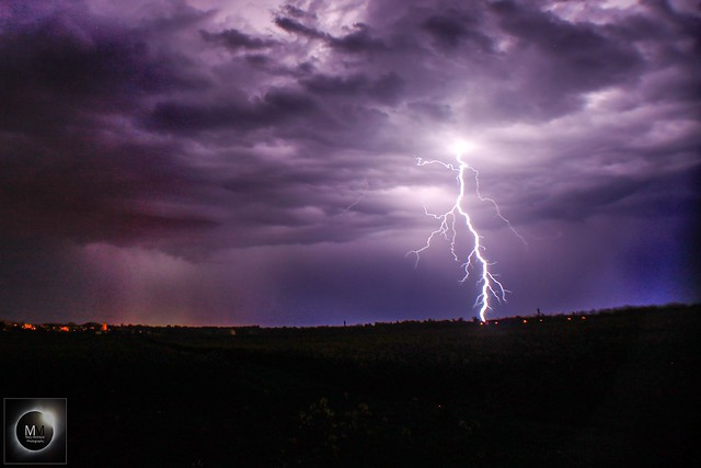 Lightning from Oxfordshire 22/04/18