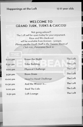 "Holland America Nieuw Amsterdam ""The Loft"" Daily Schedule: 7-Day Eastern Caribbean Apr 2, 2018 