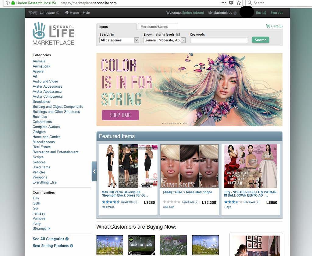 I am so Excited / Honoured / Happy that my photo made it to SecondLife Marketplace !!