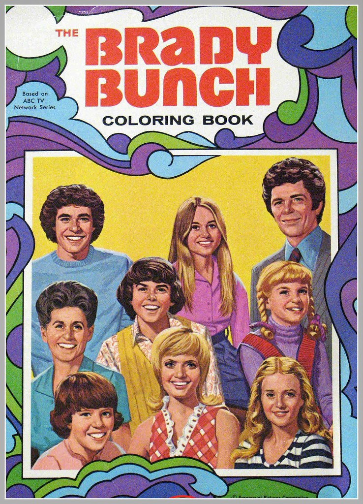BRADY BUNCH 1970\'s vintage coloring book | maria | Flickr