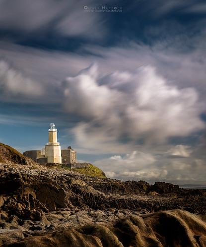mumbles lighthouse leuchtturm swansea bay gower sea meer rocks felsen seascape clouds wolken colours farben longexposure langzeitbelichtung oliverherbold