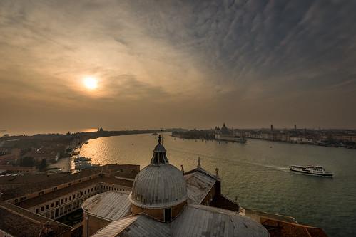 sangiorgiomaggiore venice venedig venezia italy italien italia sunset sonnenuntergang clouds wolken