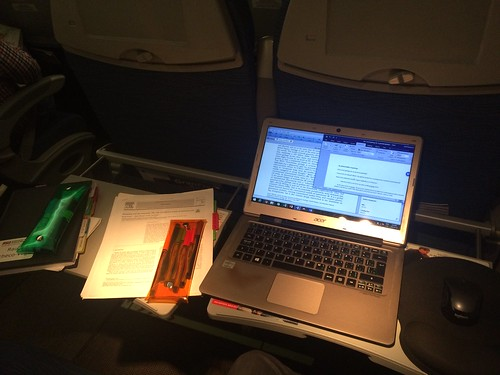 AcWri highlighting and scribbling while on airplanes