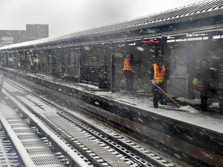 MTA at Work Through Spring Snowstorm | by MTAPhotos