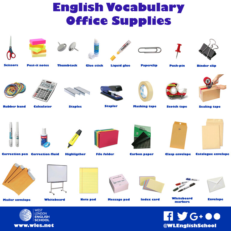 English Vocabulary For Office Supplies It S Always Useful Flickr