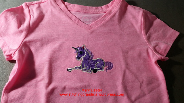 Unicorn applique tshirt