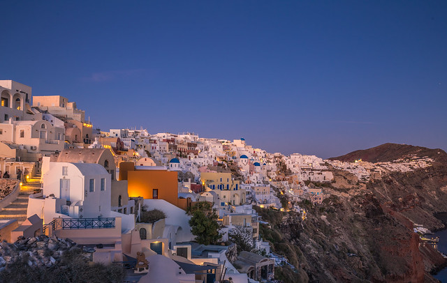 Blue hour in Oia