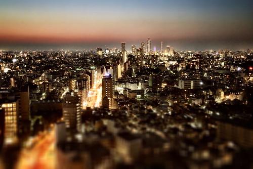 japan tokyo city night light